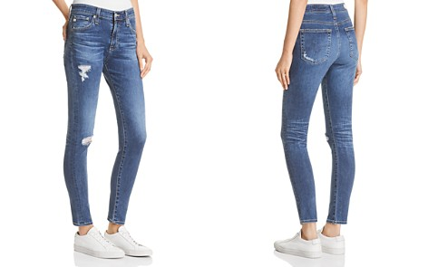 AG Farrah Ankle Skinny Jeans in 10 Years Baywood Destructed - Bloomingdale's_2