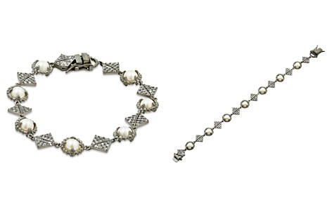 Freida Rothman Cultured Freshwater Pearl Textured Chain Bracelet - Bloomingdale's_2