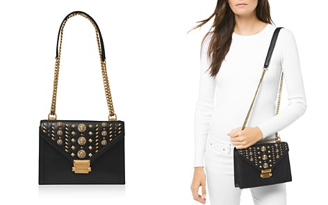 MICHAEL Michael Kors Whitney Large Studded Leather Shoulder Bag - Bloomingdale's_2