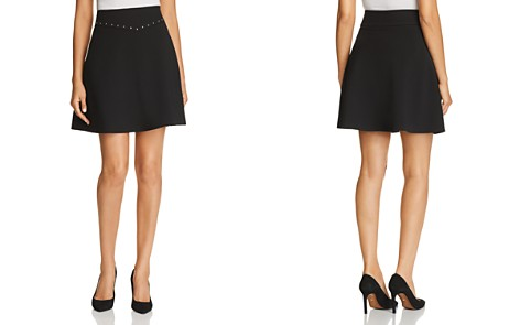kate spade new york Studded Crepe Mini Skirt - Bloomingdale's_2