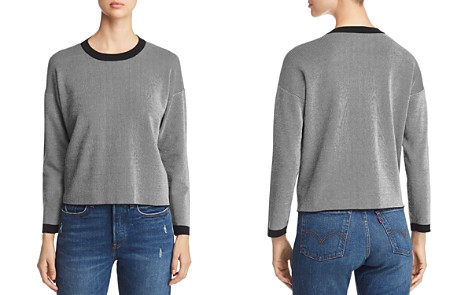 Eileen Fisher Ribbed Striped Crewneck Sweater - Bloomingdale's_2
