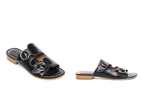 Bernardo Tobi Double-Strap Leather Slides - Bloomingdale's_2