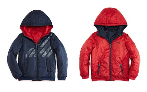Armani Junior Boys' Reversible Hooded Jacket - Little Kid, Big Kid - Bloomingdale's_2