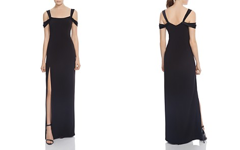 HALSTON HERITAGE Cold-Shoulder Crepe Gown - Bloomingdale's_2