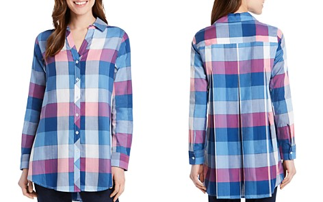 Foxcroft Hadley Buffalo Plaid Button-Down Tunic - Bloomingdale's_2