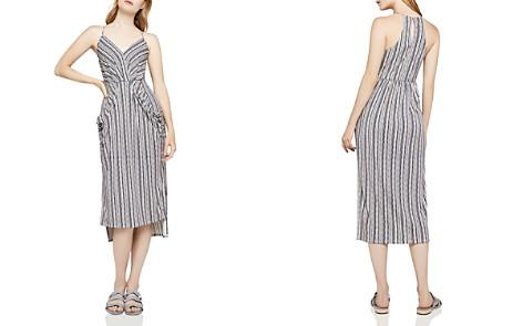 BCBGeneration Striped Faux-Wrap Midi Dress - Bloomingdale's_2