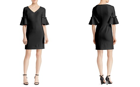 Lauren Ralph Lauren Bell-Sleeve Crepe Dress - Bloomingdale's_2