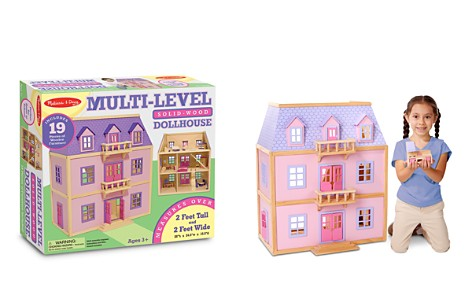 Melissa & Doug Multi-Level Wooden Dollhouse - Ages 3+ - Bloomingdale's_2