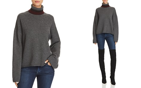 Theory Stripe-Detail Cashmere Turtleneck Sweater - 100% Exclusive - Bloomingdale's_2