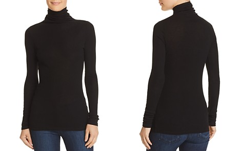 Theory Ribbed Turtleneck Top - Bloomingdale's_2