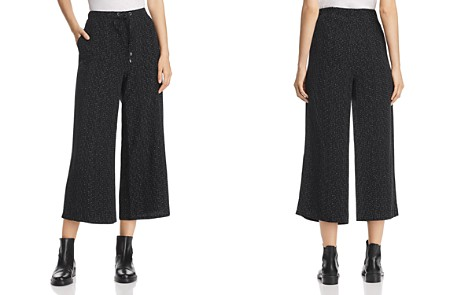 Eileen Fisher Morse Code Print Wide-Leg Crop Pants - Bloomingdale's_2
