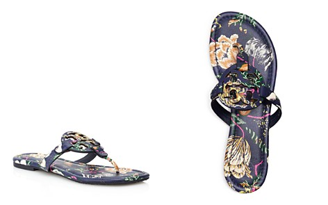 Tory Burch Women's Miller Floral Leather Thong Sandals - Bloomingdale's_2