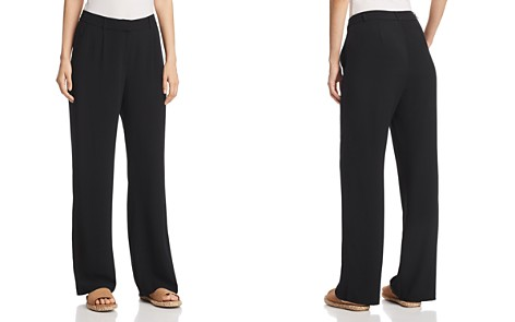 Eileen Fisher Pleated Wide-Leg Pants - Bloomingdale's_2