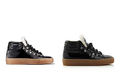 Zespa Women's Leather & Shearling Lace Up Platform Sneaker - Bloomingdale's_2