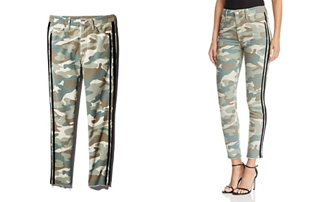 MOTHER Looker High-Rise Camo Track Stripe Skinny Jeans in See Me Run Black - 100% Exclusive - Bloomingdale's_2