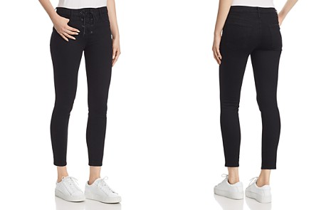 MOTHER Looker High-Rise Lace-Up Skinny Jeans in Not Guilty - Bloomingdale's_2