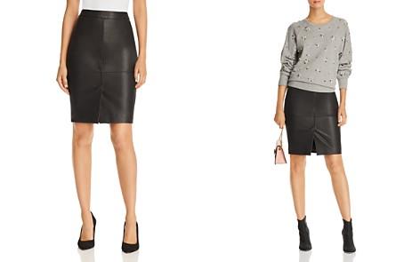 Joie Navi Leather Pencil Skirt - Bloomingdale's_2