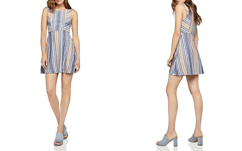 BCBGeneration Cutout Striped Fit-and-Flare Dress - Bloomingdale's_2