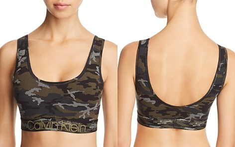 Calvin Klein Camo Unlined Wireless Bralette - Bloomingdale's_2