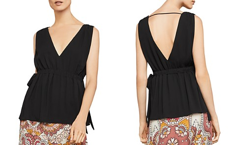 BCBGMAXAZRIA Sleeveless Side-Tie Top - Bloomingdale's_2