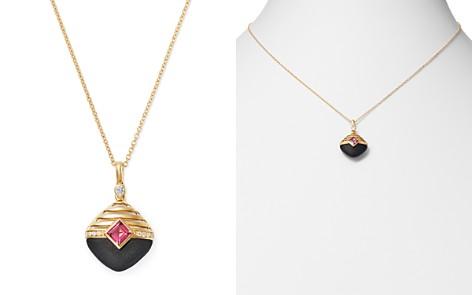 "Olivia B 14K Yellow Gold Diamond, Matte Black Onyx & Rhodolite Garnet Pendant Necklace, 17"" - 100% Exclusive - Bloomingdale's_2"