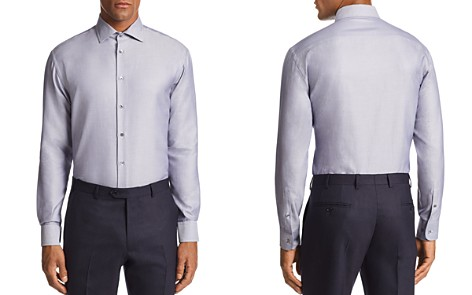 Emporio Armani Micro-Striped Tailored Fit Shirt - Bloomingdale's_2