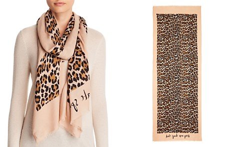 kate spade new york Leopard Print Oblong Scarf - Bloomingdale's_2