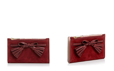 kate spade new york Hayes Street Suede & Leather Wallet - Bloomingdale's_2