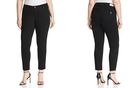 SLINK Jeans Plus Straight-Leg Jeans in Solid Black - Bloomingdale's_2