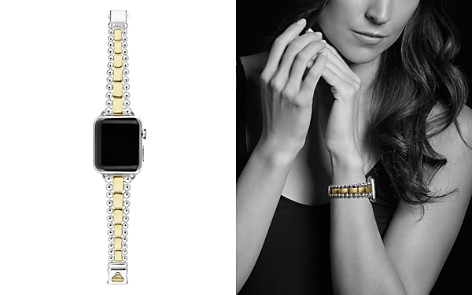 LAGOS 18K Yellow Gold & Sterling Silver Smart Caviar Apple™ Smartwatch Strap - 100% Exclusive - Bloomingdale's_2