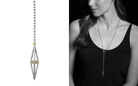 "LAGOS 18K Gold & Sterling Silver KSL Pyramid Lariat Necklace, 28"" - Bloomingdale's_2"