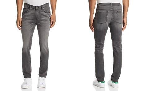 7 For All Mankind Adrien Slim Fit Jeans in Sabotage Gray - Bloomingdale's_2