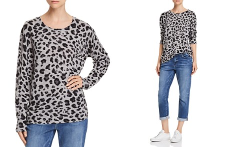 C by Bloomingdale's Leopard Print Cashmere Sweater - 100% Exclusive _2