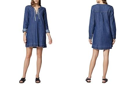 Sanctuary Faith Lace-Up Denim Shift Dress - Bloomingdale's_2