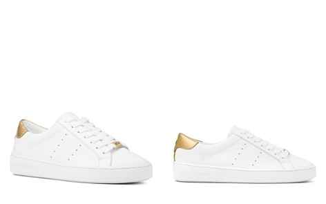 MICHAEL Michael Kors Women's Irving Lace Up Leather Sneakers - Bloomingdale's_2
