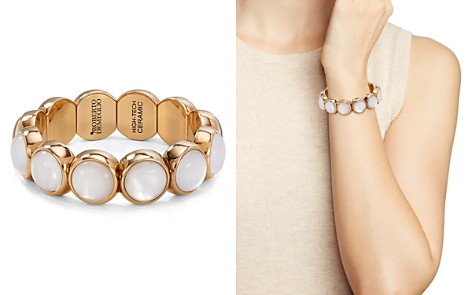 Roberto Demeglio Aura Large Rose Gold-Plated Ceramic Stretch Bracelet - Bloomingdale's_2