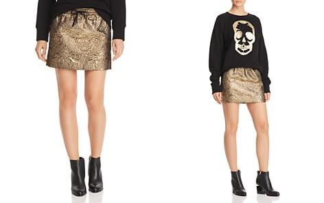 Zadig & Voltaire x AQUA Metallic Mini Skirt - 100% Exclusive - Bloomingdale's_2