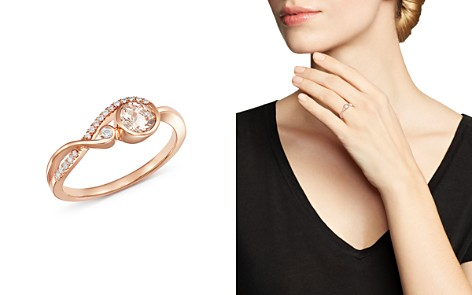 Bloomingdale's Morganite & Diamond Delicate Ring in 14K Rose Gold - 100% Exclusive_2