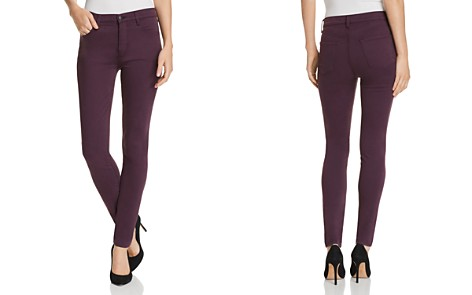 J Brand Maria High Rise Skinny Jeans in Aubergine - 100% Exclusive - Bloomingdale's_2