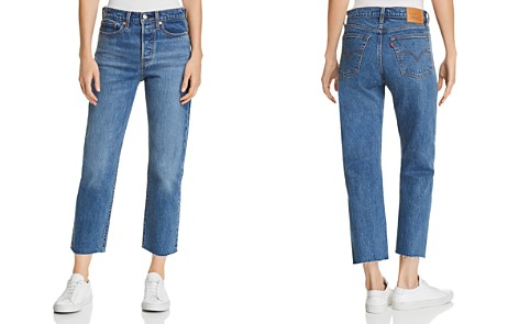 Levi's Wedgie Crop Straight Jeans in Love Triangle - Bloomingdale's_2