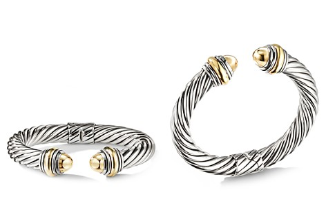 David Yurman Cable Classics Bracelet with Bonded Yellow Gold & 14K Gold, 10mm - Bloomingdale's_2