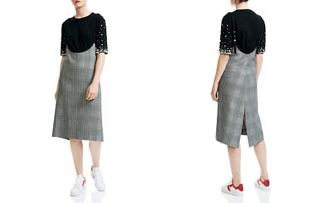Maje Racari Plaid Apron Dress - Bloomingdale's_2