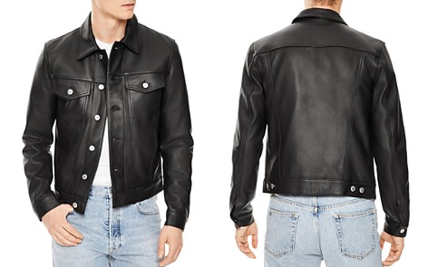 Sandro Trucker Leather Jacket - Bloomingdale's_2