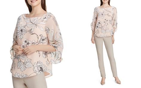 Calvin Klein Floral-Print Ruffle-Sleeve Top - Bloomingdale's_2