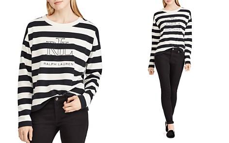 Lauren Ralph Lauren Striped Logo Sweatshirt - Bloomingdale's_2