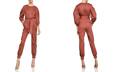 BCBGMAXAZRIA Balloon-Sleeve Pleated Jumpsuit - Bloomingdale's_2