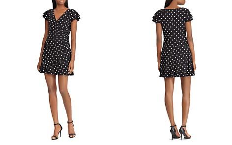 Lauren Ralph Lauren Petites Faux-Wrap Polka-Dot Jersey Dress - Bloomingdale's_2