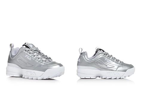 FILA Women's Disruptor II Premium Lace Up Metallic Leather Dad Sneakers - Bloomingdale's_2