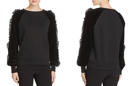 Elie Tahari Blaize Ruffle-Sleeve Sweatshirt - Bloomingdale's_2