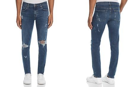 J Brand Mick Destroyed Skinny Fit Jeans in Physalis - Bloomingdale's_2